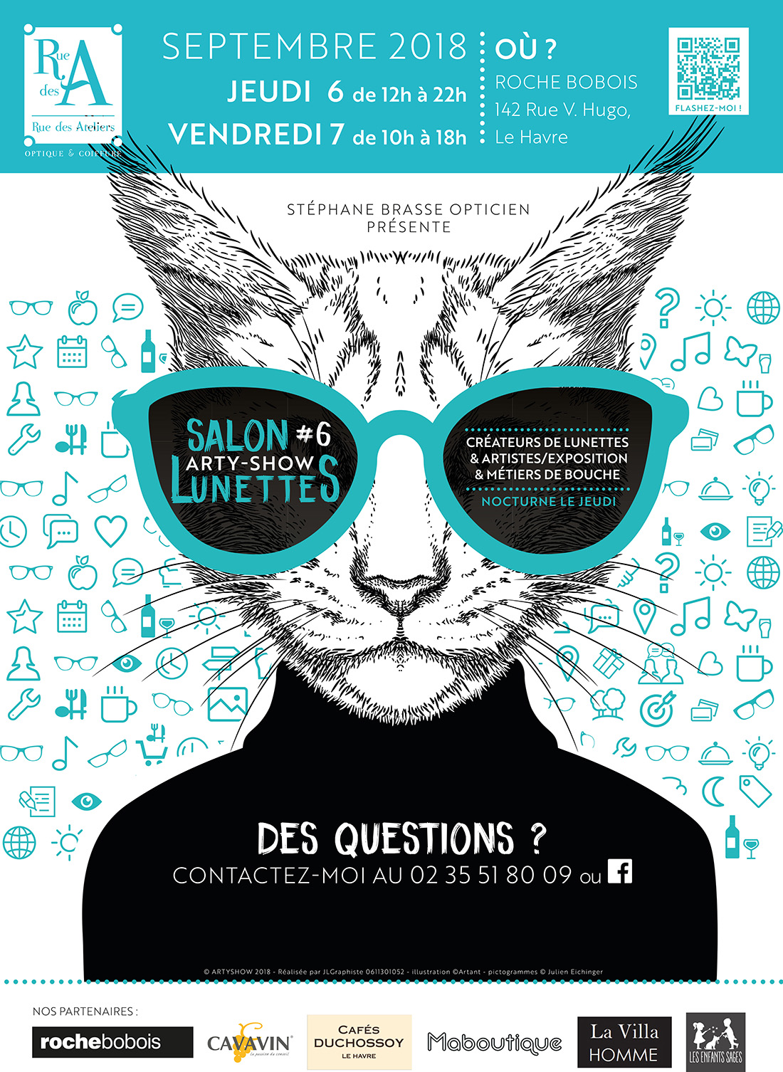 8a811dce80506d Découvrir le salon ARTY-SHOW lunettes au Havre 76 - COTE OPTIQUE ...